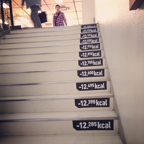department store stairs tell you how many calories you bur flickr. Black Bedroom Furniture Sets. Home Design Ideas