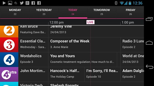 BBC iPlayer Radio for Android | by James Cridland