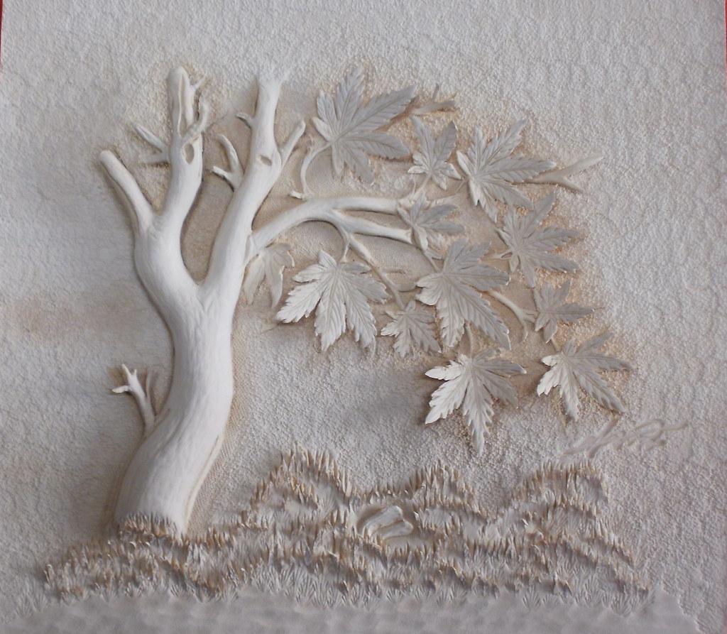가죽공예 단풍나무 d 카빙 leather craft maple carving 생가죽에 단풍