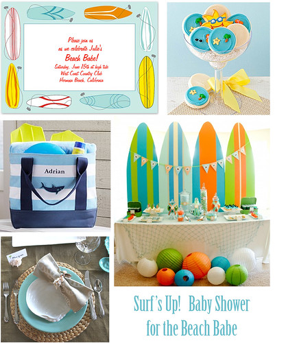 Beach Babe Baby Shower Surfs Up West Coast Or East