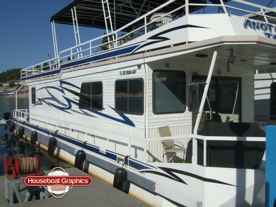 Houseboatgraphicscustomoverlayvinyldecalsboatgraphi Flickr - Custom designed houseboat graphics