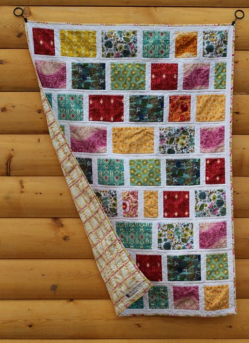 Folksy Flannels Colour Block Baby Quilt | by CoraQuilts~Carla