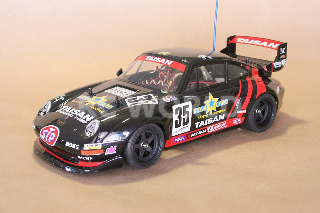 tamiya 1 10 rc porsche 911 gt2 turbo taisan starcard ta02sw flickr. Black Bedroom Furniture Sets. Home Design Ideas