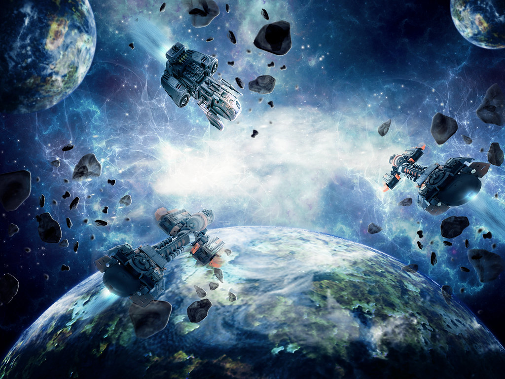 Space collision based on this tutorial with thanks for - Wallpapers sites list ...