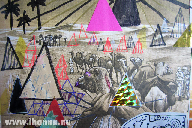 The Art Journal Pyramids - detail painted by iHanna
