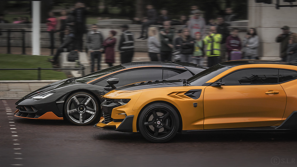 Hot Rod And Bumblebee In London A Lamborghini Centenario