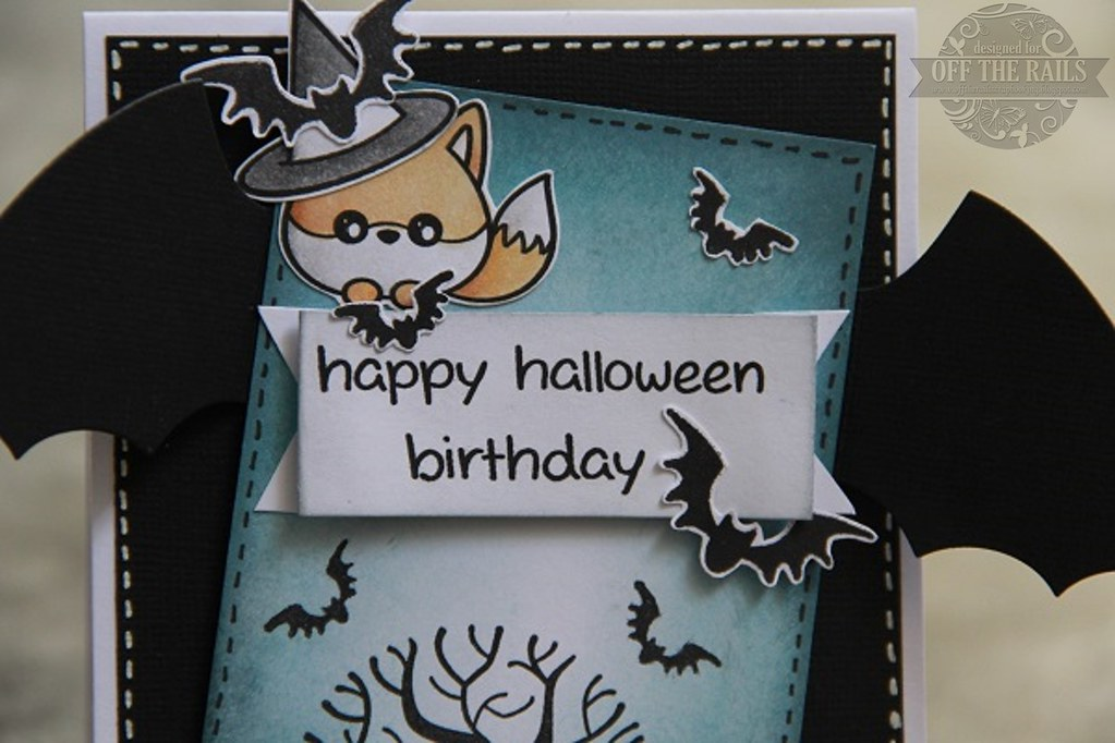 Happy Halloween Birthday Card Off The Rails Scrapbooking Flickr