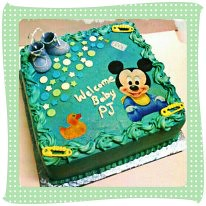Baby Mickey Mouse Babyshower Cake   By Netteu0027s Sweet Treats ...