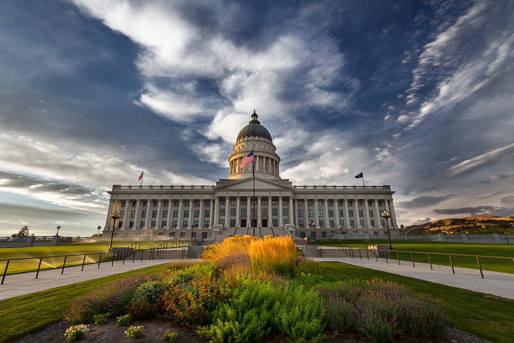 Salt Lake City Capitol Building Sunlight Utah Cityscape