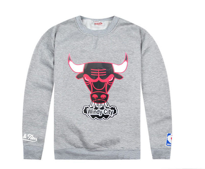 ... Chicago Bulls Sweater UK Windy City Grey Sweatshirts Long Sleeve T  Shirts  82d38ee92c6d