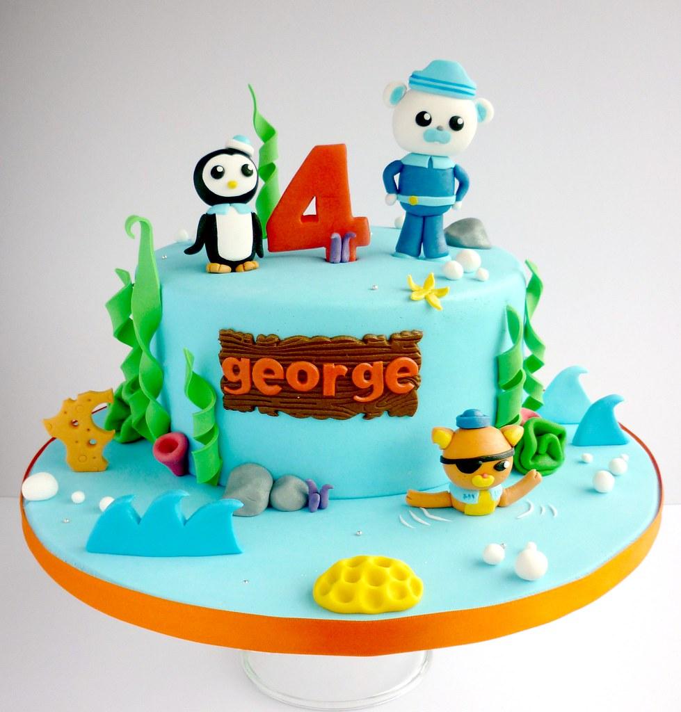 Octonauts Birthday Cake 8 Quot Vanilla Sponge Cake Topped