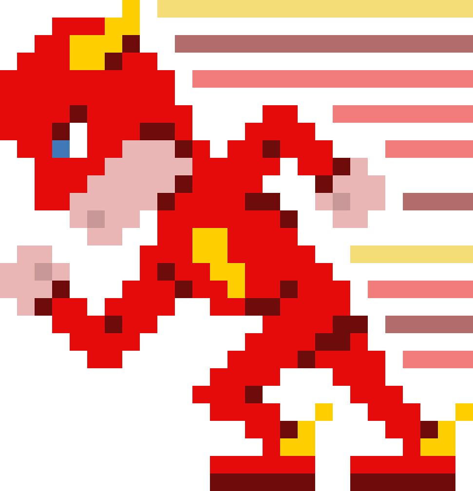 pixel art flash