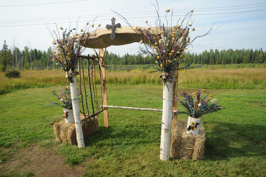 flowers for wedding archway