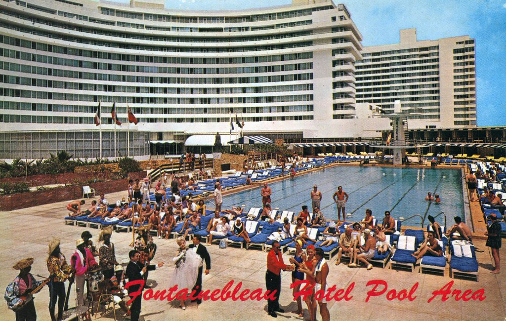 Fontainebleau Hotel Pool Area Miami Beach FL | William ...
