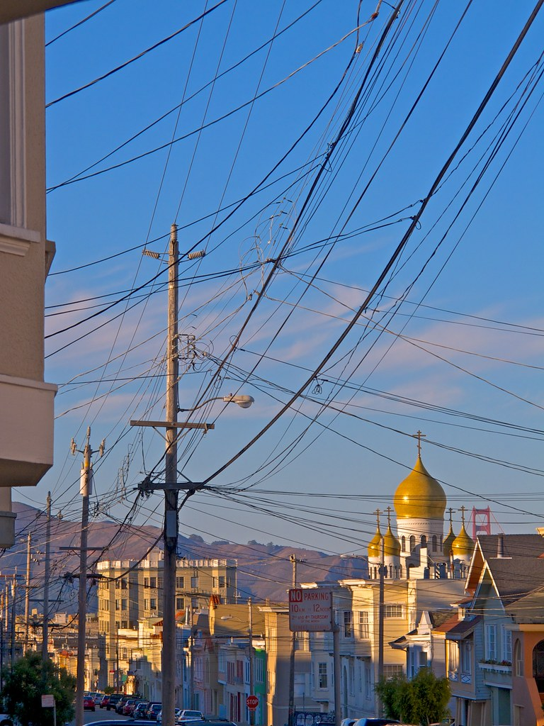 wired Russian crosses, Little Russia, San Francisco | Flickr