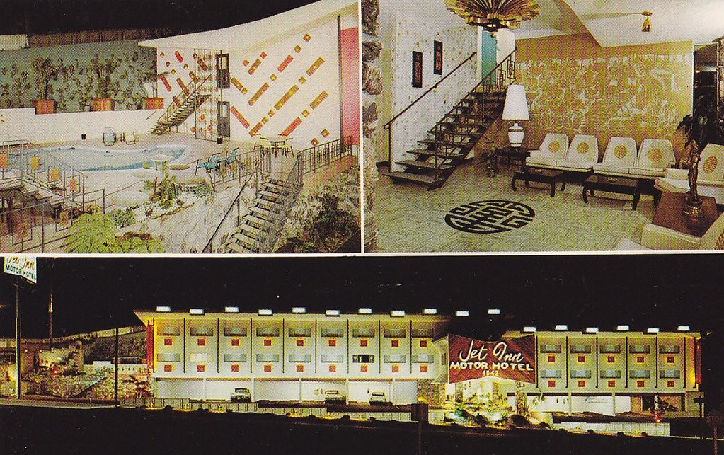 Jet inn motor hotel los angeles ca back of postcard for Motor inn los angeles