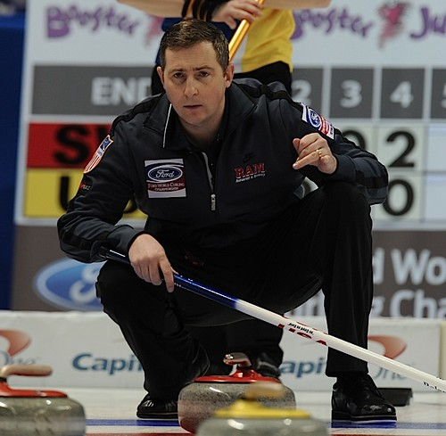 Victoria,B.C. Mar31,2013.Ford Men's World Curling Championship.U.S.A. skip Brady Clark.CCA/michael burns photo | by seasonofchampions