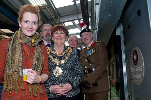 The Mayor at the Fusilier Tram event | by Bury Photos