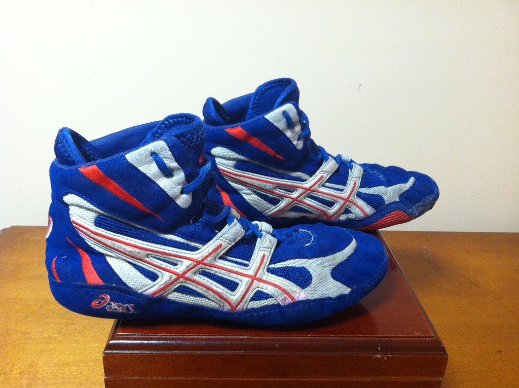 RWB Asics Dan Gable Ultraflex | Size 9.5 - Red/White/Blue | Flickr