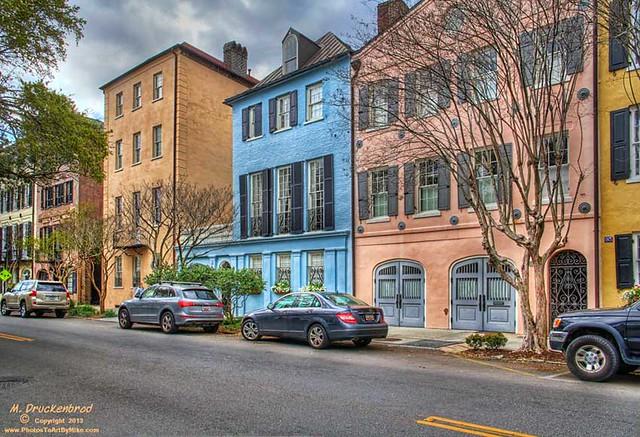 Houses on rainbow row charleston south carolina flickr for Charleston row houses