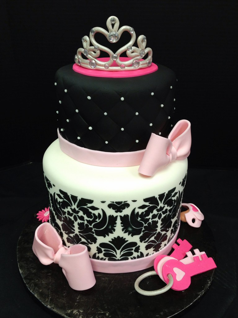 Damask Diva Baby Shower Cake | Mary Griffis | Flickr