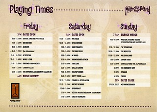 MMF2004 Playing Times | by Aunty Meredith