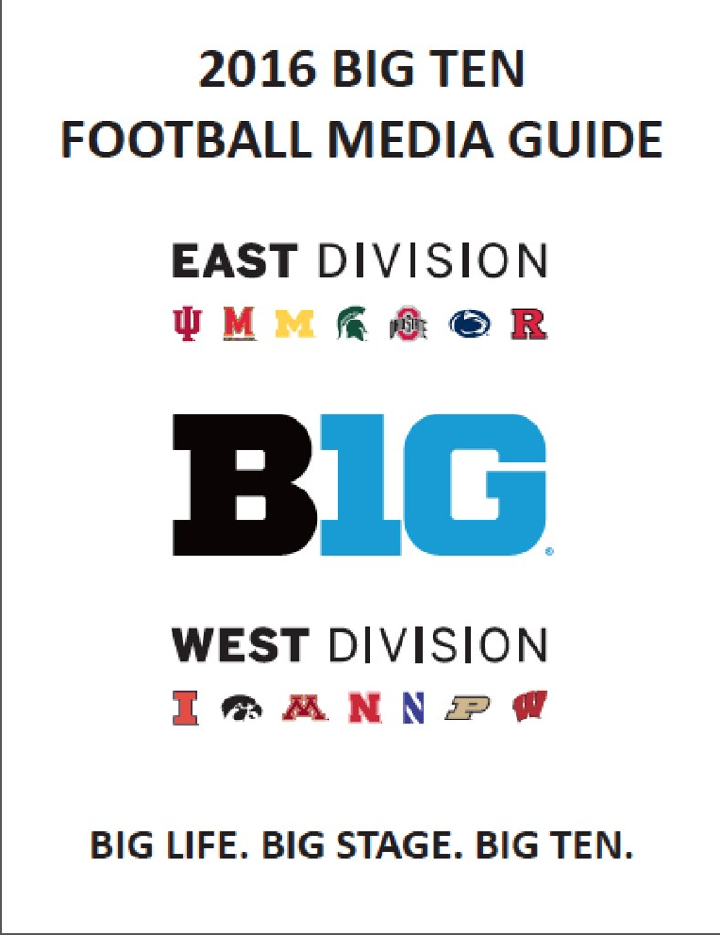 2016 Big Ten Media Guides