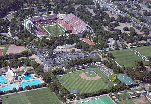 Aerial image of Stanford Stadium, Stanford University, Cal ...