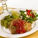 Pork Chop Pomodoro, Asparagus & Peppers, Italian Green Beans