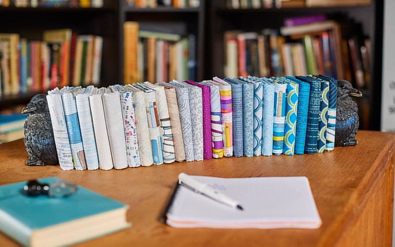 Here it is!!! Literary for Windham Fabrics. What could beat walking into a room filled with library card catalogs, checkout cards with date stamps, and the smell of old books? Books and their readers are celebrated in Literary, Heather Givans' newest coll