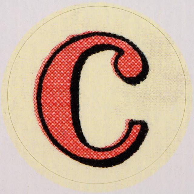 Letter C Stickers Vintage Sticker Letter C Flickr Photo Sharing
