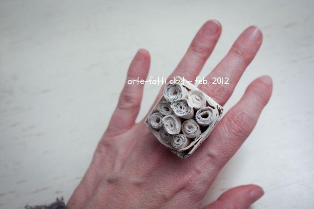 Anello fai da te artefatti clod gioielli topogina flickr for Inferriate fai da te