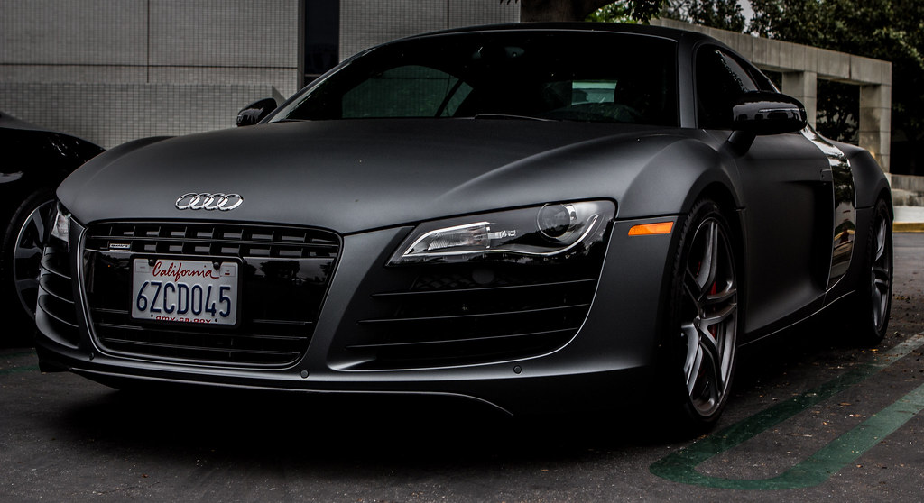Matte Grey Audi R8 (V8) | Spotted at Cars and Coffee Irvine … | Flickr