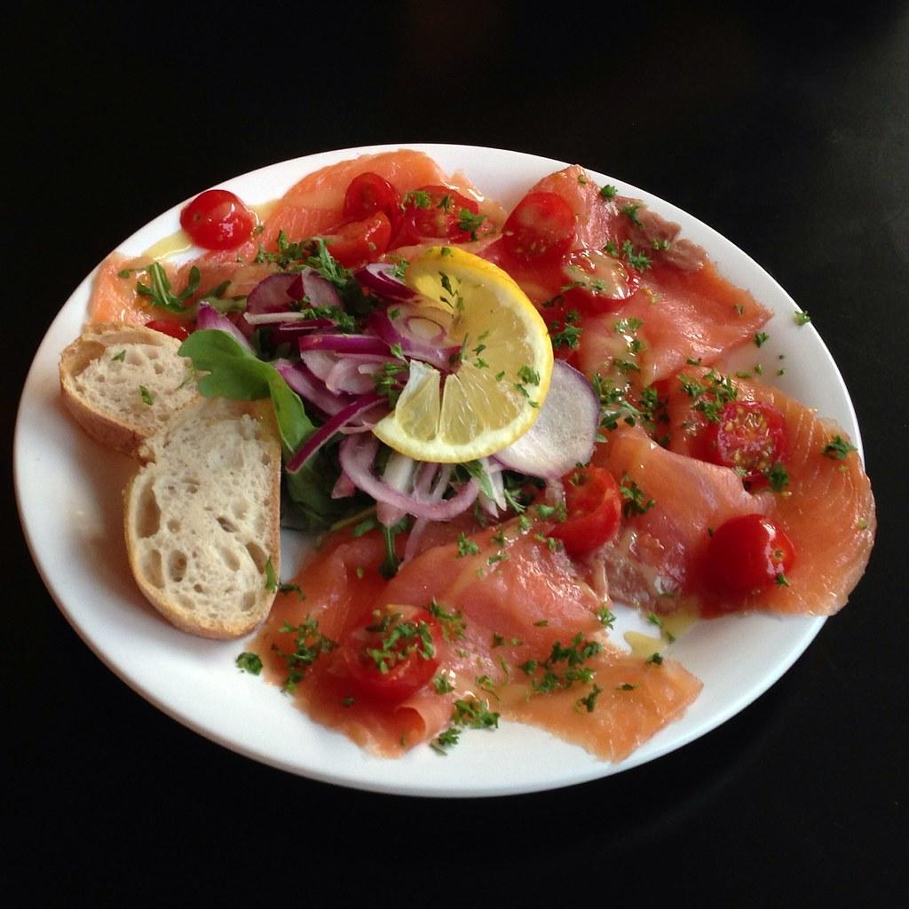 Porticciolo @ Happy Italy | Smoked salmon, cherry tomatoes ...