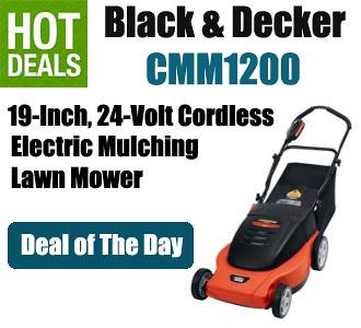 Black Amp Decker Cmm1200 19 Inch 24 Volt Cordless Electric M