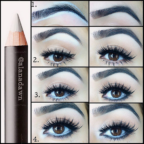 The perfect eyebrows step by Step. #eyebrows #tutorial #ma ...