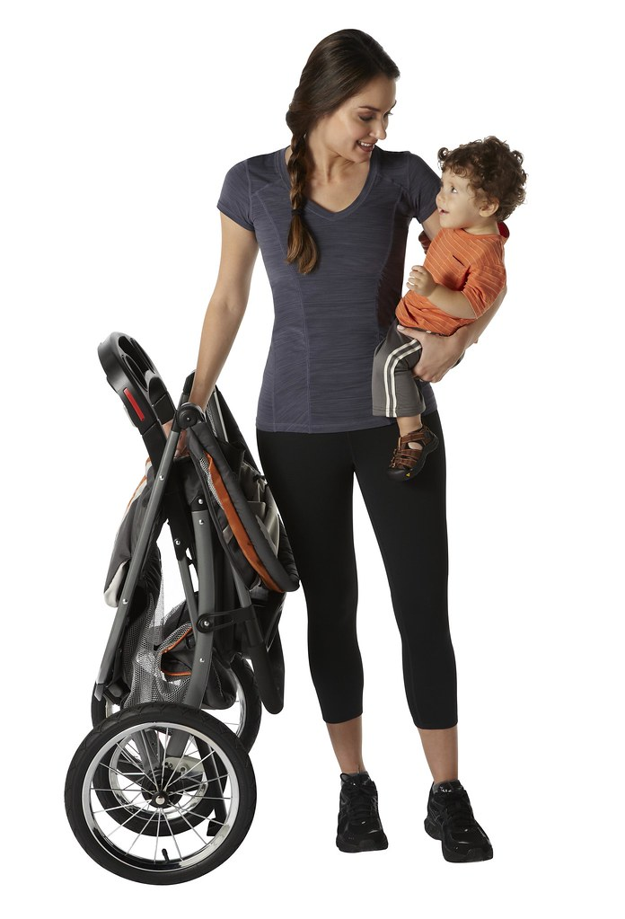 Fastaction Foldjogger Mom Baby Folded Stroller 2 Sits