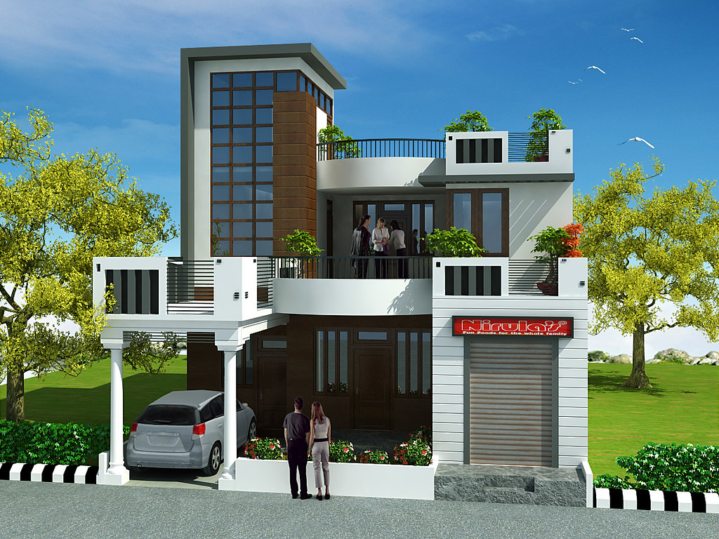 3 bedrooms duplex house design in 220m2 10m x 22m flickr for 3 storey terrace house design