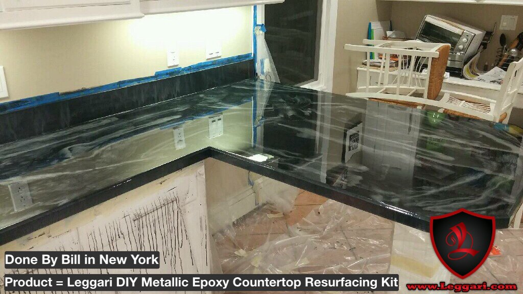 ... Another #diy #countertop #coated With #leggariproducts #metallic #epoxy  #countertops