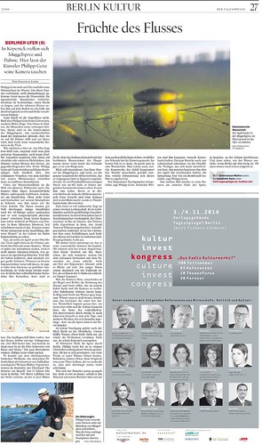 Riverine Zones im Tagesspiegel Ausgabe 04.09. S. 27 Früchte des Flusses