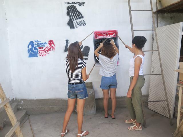 Feminist stencils - exhibition
