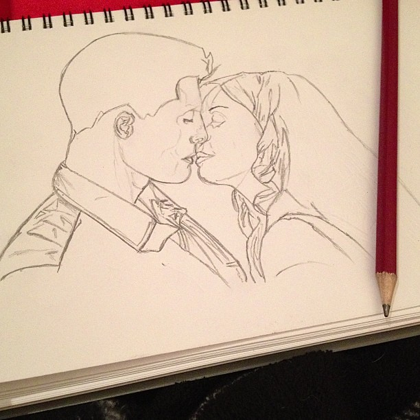 Drawing #jackson ( @coltonlhaynes ) and #lydia from #teenw ... Romantic Drawing For Boyfriend