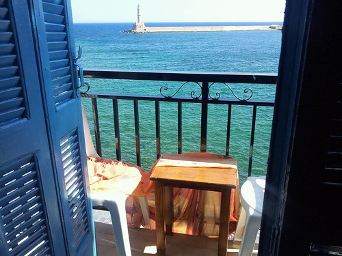 view from.hotel in Chania harbor | by Coola morsan