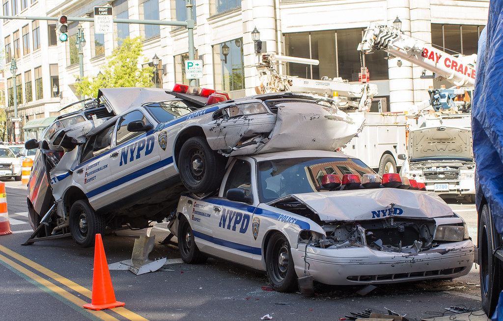 Nypd Crash From The Amazing Spiderman 2 Right Here In