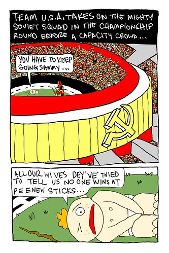 Peener Sticks World Cup pg 2 | by Mike Riley