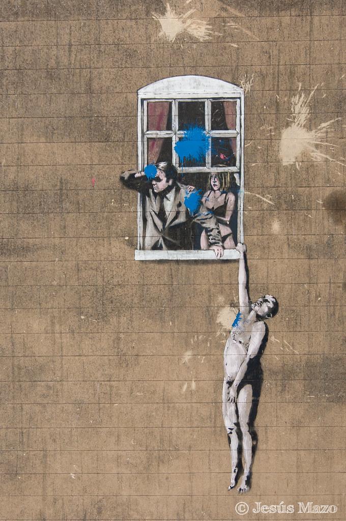 'El hombre desnudo' Pieza de graffiti del famoso Banksy vi ...