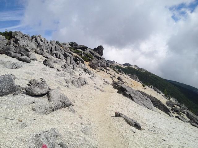 鳳凰山 観音岳~薬師岳 登山道