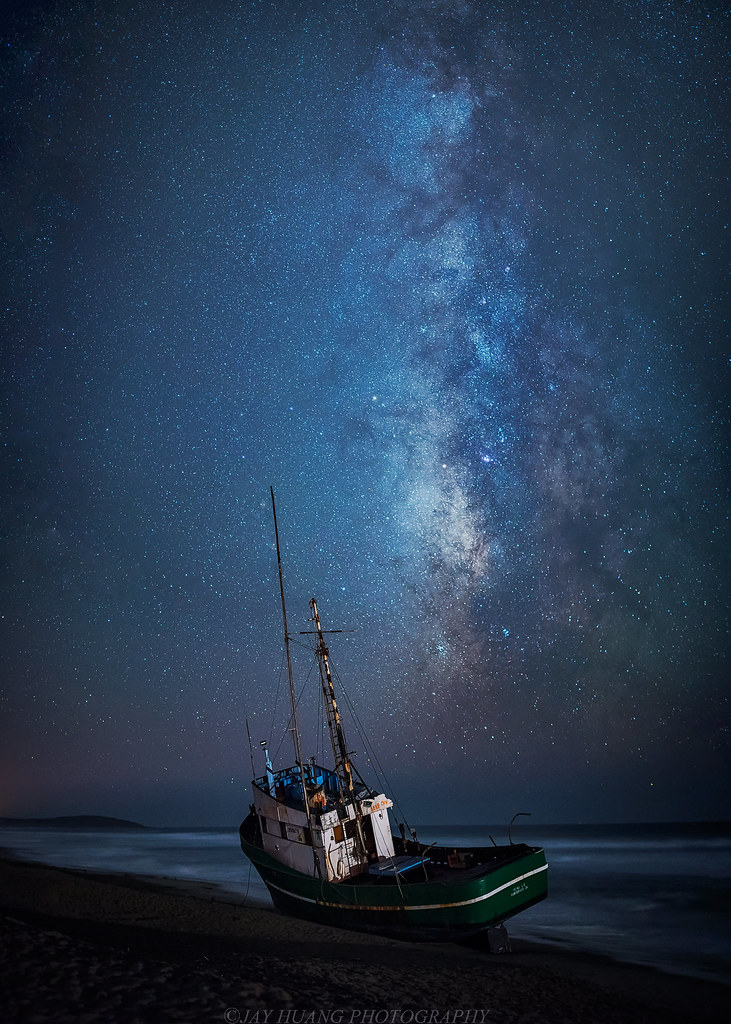 Lonely Boat under the Stars | The fishing Boat Verna II run … | Flickr