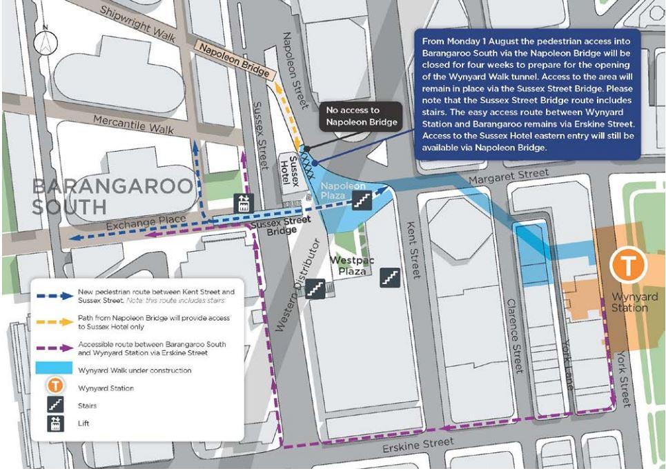how to get to barangaroo from wynyard