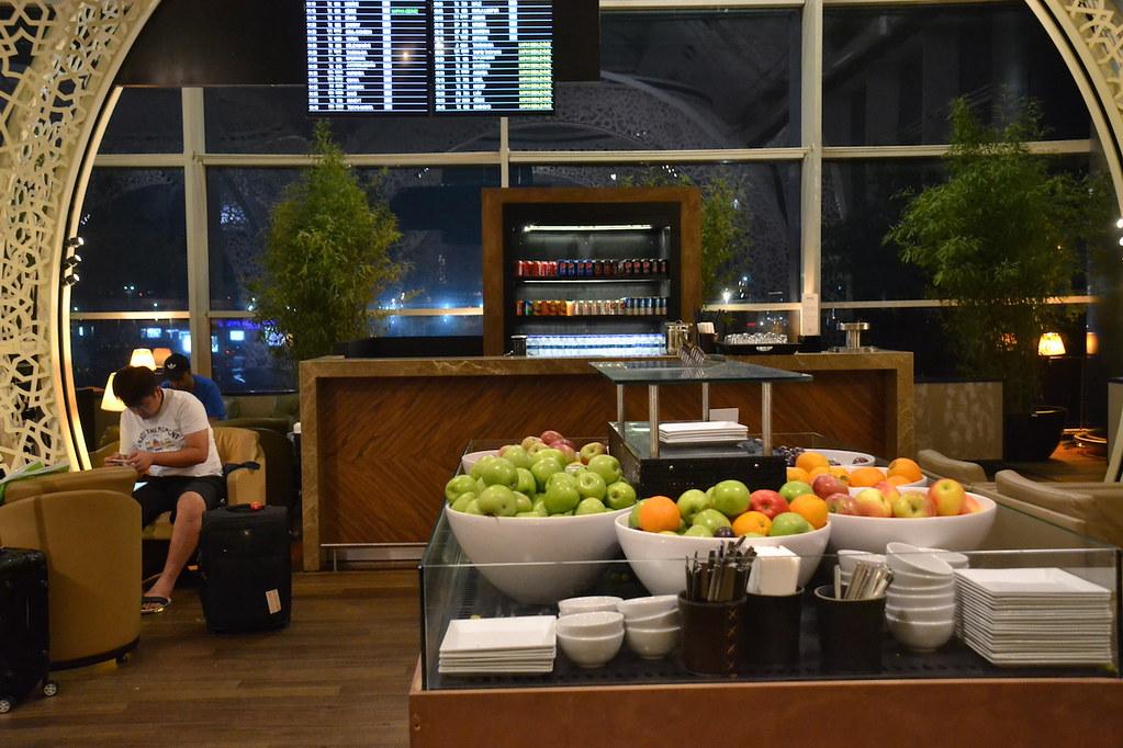 土耳其航空貴賓室水果區